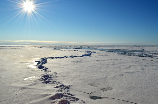Sea ice in the High Arctic.