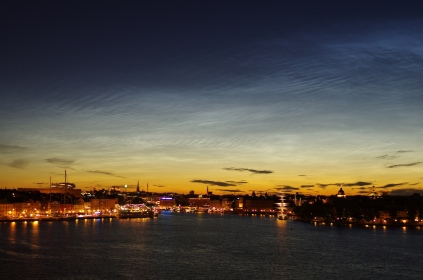 Nocitilucent clouds over Stockholm