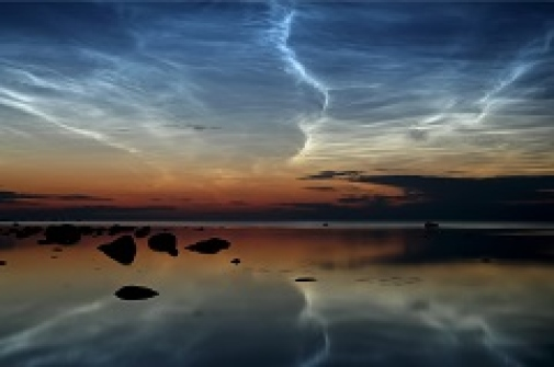 Noctilucent clouds near the northern tip of Estonia. Photo: Ireen Trummer