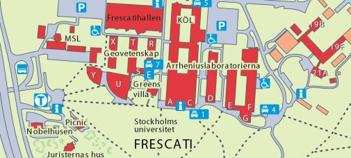 Karta Stockholms Universitet.Hitta Till Oss Meteorologiska Institutionen